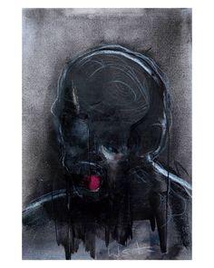 """Polubienia: 805, komentarze: 34 – wojciech sosidko (@w_sito) na Instagramie: """"tragic figure #3, charcoal on paper, A4. . . it's available, DM/@ for info . . #art #sztuka…"""""""