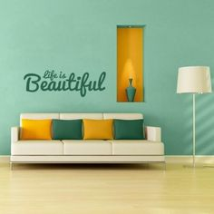 Life is Beautiful Quote Wall Decal