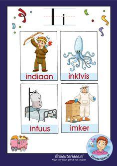 Letter P Activities, Learn Dutch, Dutch Language, Letter I, Kids Education, Kindergarten, Homeschool, Comics, Learning