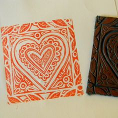 Cherith's Collections: Lino Print Tutorial Printing Practice, Stamp Printing, Mark Making, Colored Paper, Diy Projects To Try, Christmas Art, Carving, Tapestry, Drawings