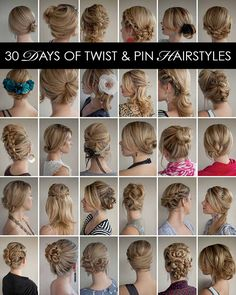 30 Days of Twist and Pin Hairstyles – The Hair Romance eBook