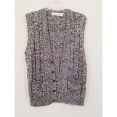 Vintage Unisex Sweater Cardigan Vest by HeyItsHipster on Etsy, $14.00