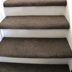 Image result for carpet stair treads with wood nose