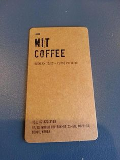 nit coffee stamp card is so pretty