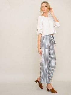 A cool look for spring.  The Chan Luu Stripe Pant paired with the Vanilla Sweater is an impressive look.  Perfect to wear to a spring party.  Or pair the wide leg, chambray pant with a white tank, for a sexier look.  Find the most current fashions and styles at DetailsDirect.com!