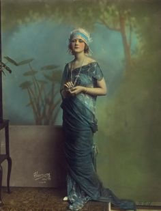 Silent film actress Alice Terry looking like a softly beautiful painting come to life in this serenely captivating image