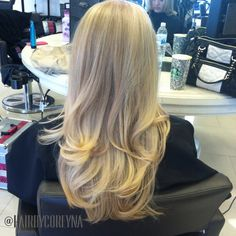 Blowout blonde highlights