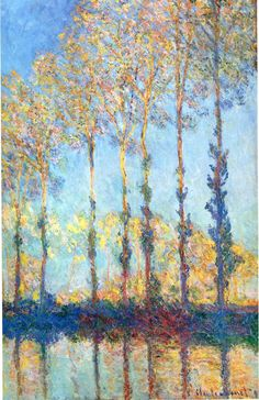 Poplars on the Banks of the Epte - Claude Monet, 1891