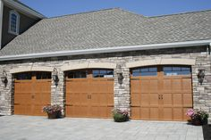 Wayne Dalton 9700 Overhead Door Dutchess Overhead Doors, Inc. Oak  Stain Steel