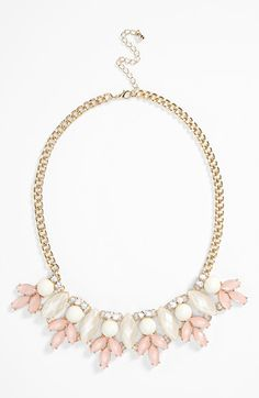 Free shipping and returns on BP. Leaf Statement Necklace at Nordstrom.com. Faceted stones gently color a golden statement necklace accented with twinkling jewels for a touch of glamour.