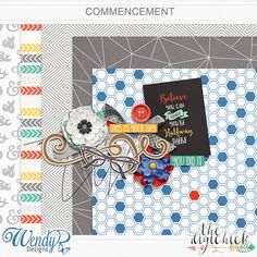 Quality DigiScrap Freebies: Commencement mini kit freebie from Wendy P Designs