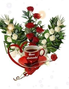 Clara Alonso, Good Morning Love, Morning Greeting, Morning Coffee, Beautiful Flowers, Cool Pictures, Happy Birthday, Tableware, Nice Picture