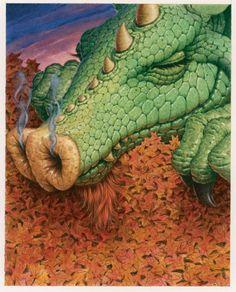Thanksgiving-Autumn Dragon illustrator Richard Cowdrey-Fresher