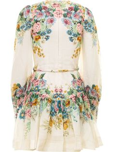 Shop Zimmermann Kirra Printed Dress With Wrinkles and save up to EXPRESS international shipping! Church Outfits, Church Clothes, Im So Fancy, Flower Shorts, Kazakhstan, Bell Sleeve Top, Summer Dresses, Silk, Sewing Ideas