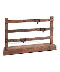 Wood Ruler Perpetual Calendar