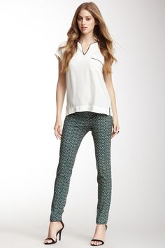 Braided Tribal Print Ankle Pant by Chaus on @HauteLook