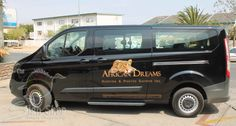Vehicle branding done for African Dreams Hunting & Photo Safaris Inc.
