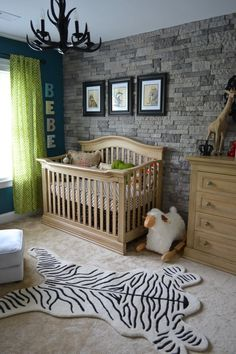 "Since you only have one room, no   nurseries! Little Man Cave. What a gorgeous little boy's room. Can be ""babied""   then grow with the ""little man."""
