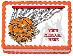 "BASKETBALL++Edible+image+cake+topper+1/4+sheet+(10.5""+x+8"")"