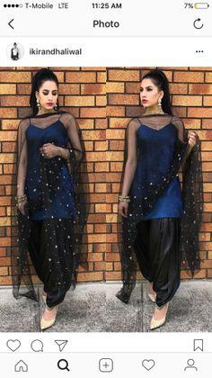 Punjabi Salwar Suit - Happy Shappy Indian Suits Punjabi, Punjabi Suits Party Wear, Indian Attire, Indian Wear, Indian Outfits, Patiala Suit Designs, Kurta Designs Women, Kurti Designs Party Wear, Salwar Designs