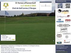 Próximo #torneo #golf en Club de Golf Lerma Sábado 4 de Julio // 2016 www.eplannerGolf.com