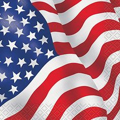 US American Flag Beverage Napkins 16ct *** Find out more about the great product at the image link.