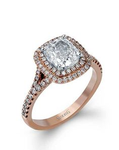 40bf3664e Cushion cut engagement rings diamond Designer Engagement Rings, Cushion Cut  Engagement Ring, Rose Gold