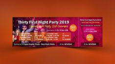Night Party Event Ticket Design – Photoshop Tutorial IntroductionHello guys, thanks for reaching out again. Today, we make a Best Thirty First Night Party Event Ticket in Photoshop. Photoshop Design, Photoshop Tutorial, Ticket Design, Thirty One, Psd Templates, First Night, Daily Inspiration, Twitter, Custom Design