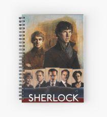 Sherlock Cast Portraits Spiral Notebook
