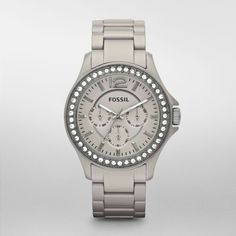 Fossil Women's Crystal Bezel Ceramic Bracelet Quartz Date Watch in Jewelry & Watches, Watches, Parts & Accessories, Wristwatches Modern Pocket Watch, Latest Watches, Fossil Watches, Stylish Watches, Grey Stone, Wholesale Fashion, Michael Kors Watch, Watch Bands, Jewelry Watches