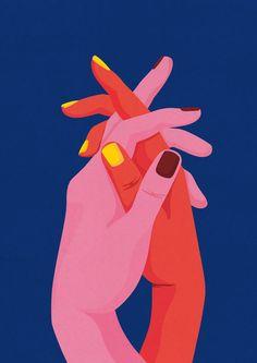Friendship by Egle Plytnikaite Art And Illustration, Illustration Inspiration, Illustrations, Small Canvas Art, Diy Canvas Art, Painting Inspiration, Art Inspo, Kunst Inspo, Posca Art