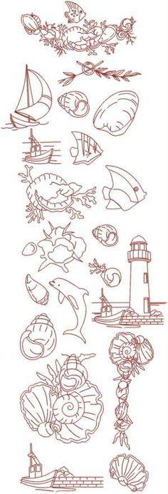 nautical things embroidery - Pesquisa Google