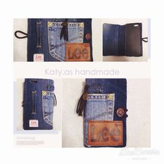 「order pageより ありがとうございました♡^^ #handmade#denim #remake#iPhonecase #Lee#iPhone6 #coordinate#code#rhc #ハンドメイド#デニム #リメイク#iPhoneケース」 Recycled Denim, Jeans, Sewing Crafts, Diy And Crafts, Wallet, Handmade, Fashion, Bags, Moda