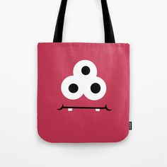 Red Monster Bag - Book Bag - Beach Bag - Grocery Bag - Kids Tote - Child's Bag - Made to Order