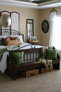 Master Bedroom - I can do without the privacy screen behind the bed. Love the rest!!