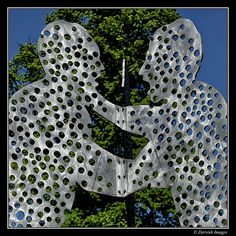 Molecule Man by Jonathan Borofsky in Yorkshire Sculpture Park. I saw the one in the Spree River in Berlin, Germany.