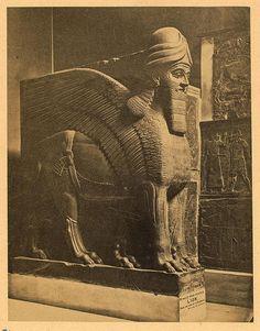 ASSYRIA - PORTAL GUARDIAN FROM NIMROUD. BRITISH MUSEUM.