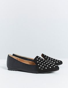 Lane Bryant US Studded Loafer Wide Fit Shoes, Studded Loafers, Shoe Brands, Cute Shoes, Lane Bryant, Footwear, Plus Size, Flats, Accessories