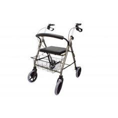 Andador de aluminio de asiento bajo