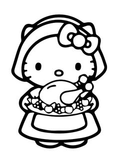 coloring pages hello kitty summer clothes | Hello Kitty Prepares To Go Take A Shower | Hello Kitty ...