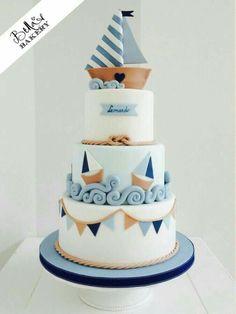 Motivtorte Segelboot Motivtorte Segelboot The post Motivtorte Segelboot appeared first on Kuchen Rezepte. Gateau Baby Shower, Baby Shower Cakes, Fondant Cakes, Cupcake Cakes, Nautical Cake, Nautical Style, Sailboat Cake, Nautical Party, Sea Cakes