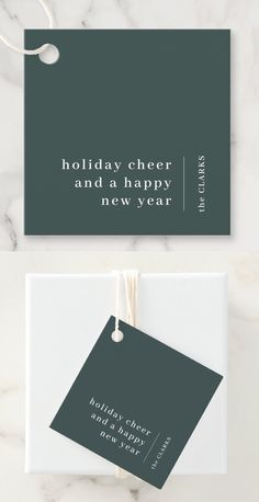 A stylish modern holiday gift tag with a classic typography address with a dividing line and family name with a vertical text direction in white. The design has a dark forest green feature color and is in a 'scandi' scandinavian design style. The greeting and name can be easily customized for a design as unique as you are. A trendy, minimalist and contemporary design to stand out this holiday season! Vertical Text, Minimal Christmas, Brown Paper Packages, Christmas Wonderland, Holiday Gift Tags, New Year Holidays, Happy Year, Green Gifts, Dark Forest