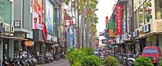 Kuta Square is by far the most sophisticated shopping experience on the island, with many designer labels and products available.