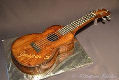 Ukulelekakku Drummer Boy, Themed Cakes, Ukulele, Cake Decorating, Confirmation, Eat, Cake Ideas, Project Ideas, Hawaiian