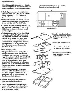 Free Purple Martin House plan For The Birds Pinterest