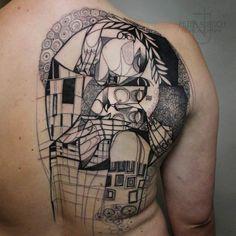 Cubisme et Tatouage – Les créations du tatoueur allemand Peter Aurisch