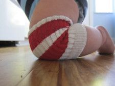 Best Baby Knee Pads | Give the DIY gift of non-scraped knees with this clever upcycle for the little ones.