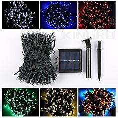 22M 200LED Solar String Lights #Christmas Fine Party Light Waterproof Lamp