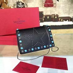 #Valentino #Rockstud Turquoise Shoulder Bag