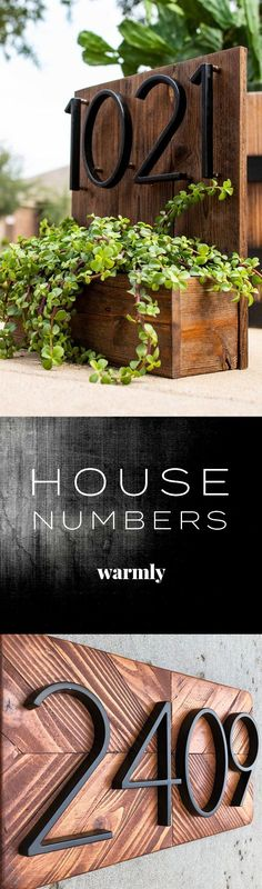 Modern House Numbers - The perfect way to spice up your curb appeal on a budget . Garden Design, House Design, Door Design, House Numbers, Front Yard Landscaping, House Front, Curb Appeal, Spice Things Up, Home Projects
